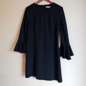 Trina Turk Black Bell Sleeve Dress